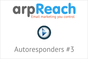 arpReach Video - Autoresponders #3
