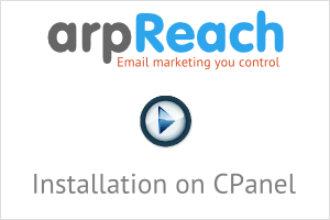 arpReach Video - Installing on CPanel Hosting